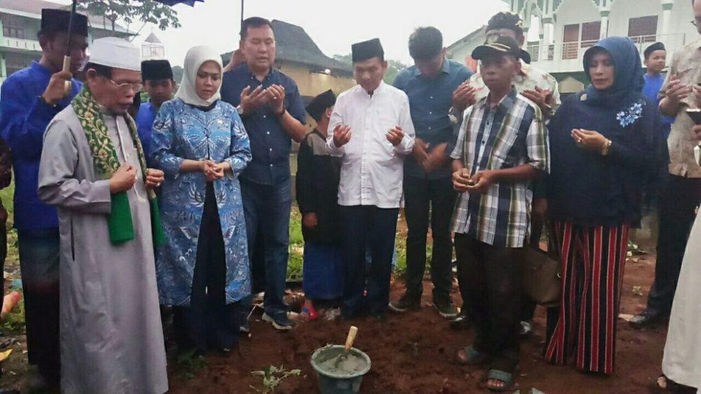 Intan Fauzi Lakukan Peletakan Batu Pertama Rumah Susun Yasfi