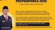 Fraksi PKS Ajak Masyarakat Urun Rembug Propemperda 2020