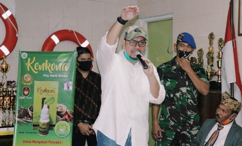 Hardjuno dalam Bakti Sosial (Baksos) di Kawasan Cikini, Jakarta Pusat, Senin (4/5/2020).