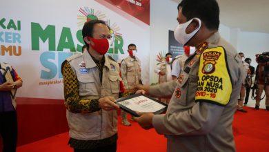 Photo of Masker Sehati Digadang Singkirkan Covid 19 dari Dunia Industri Bekasi