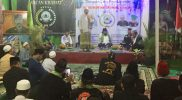 Suasana Kegiatan Ruwahan Forum Betawi Rempug (FBR) Gardu 032 Macan Kramat di Jatikramat, Jatiasih, Bekasi, Rabu (7/4/2021).