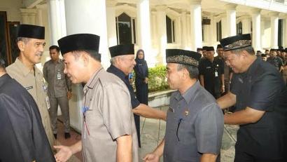 Photo of Bupati Safrial Halal Bihalal Bersama Jajaran ASN
