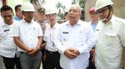 Bupati Safrial Meninjau Revitalisasi Air Bersih