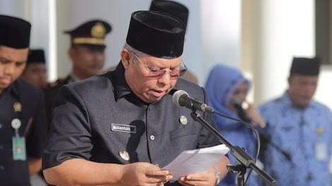 Photo of Bupati Safrial Pimpin Upacara Peringatan Hari Lahir Pancasila