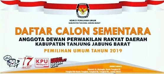 Photo of KPU Umumkan DCS Anggota DPRD Tanjab Barat Pemilu 2019