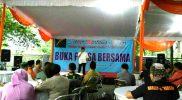 Ketua Sekber Wartawan Harian Bogor Danang Donoroso saat memberikan sambutan di acara buka bersama, Senin (19/6/2017). Foto: Cek/SUARAPENA.com