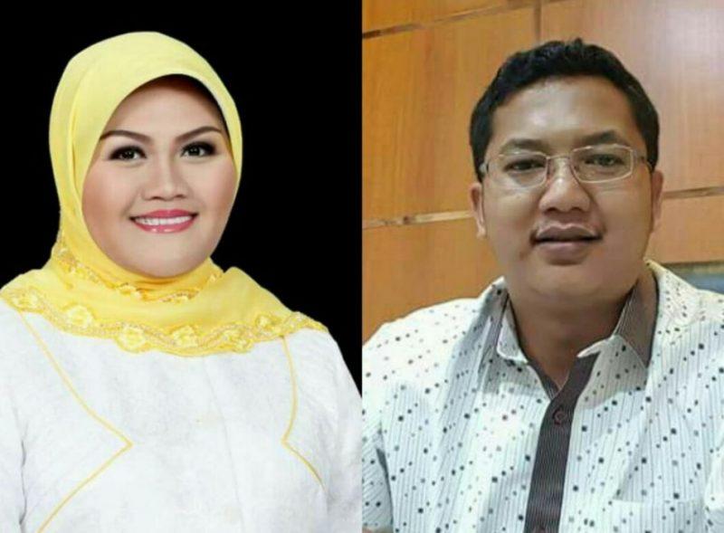 Bupati Bekasi Neneng Hasanah Yasih dan Ketua DPRD kabupaten Bekasi Sunandar