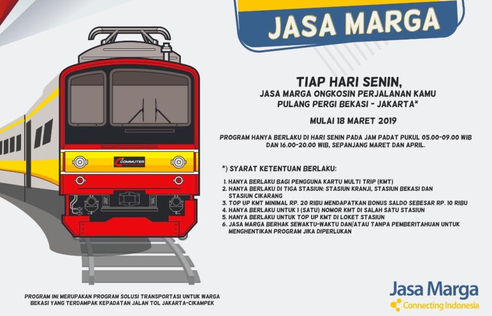Photo of Program Senin Diongkosin Mulai Hari ini di Stasiun Bekasi