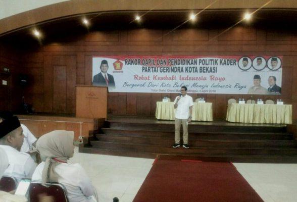 Photo of Partai Gerindra Kota Bekasi Helat Rakor Dapil dan Pendidikan Politik Kader