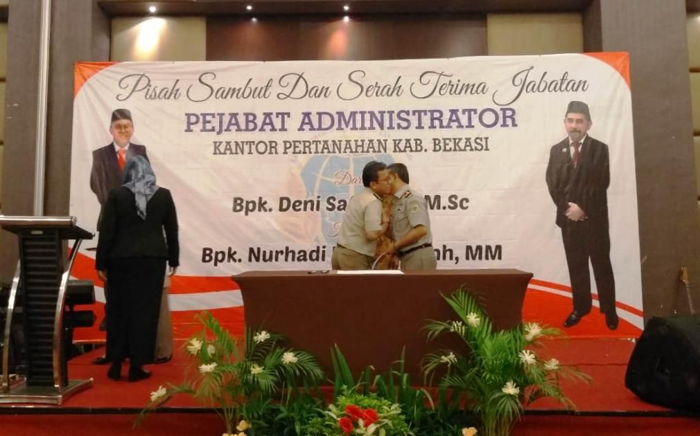 Photo of Sertijab BPN Kabupaten Bekasi, Nurhadi Putra Gantikan Deni Santo
