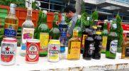 Tim Gabungan Pemerintah Kota Bekasi Musnahkan Ribuan Botol Miras