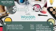 beauty class with wardah