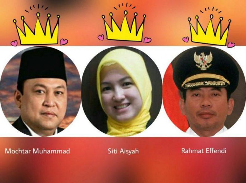 Mochtar Muhammad, Siti Aisyah, dan Rahmat Effendi