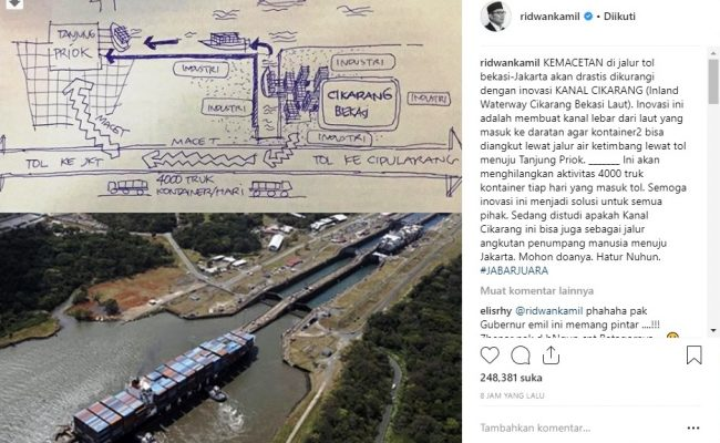 Photo of Ridwan Kamil Bakal Hilangkan Aktivitas 4000 Truk Kontainer